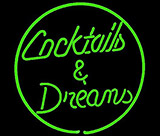 Cocktail And Dreams Neon Sign