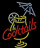 Cocktail And Martini Umbrella Cup Beer Logo Neon Sign