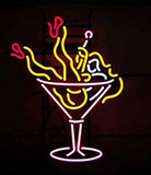 Cocktail Martini Girls Logo Neon Sign