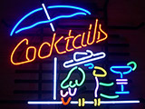 Cocktail Parrot Logo Neon Sign