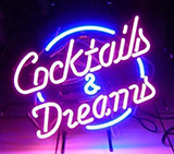 Cocktails And Dreams Logo Neon Sign