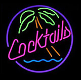 Cocktails Logo Neon Sign