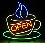 Coffee Cup With Open Sign