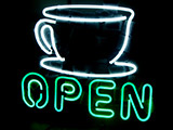 Coffee Shop Open Logo Neon Sign