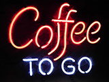 Coffee To Go Restaurant Neon Sign