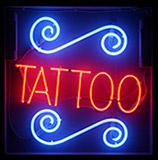 Design Red Tattoo Neon Sign