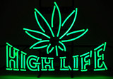 Green High Life With Logo Neon Sign