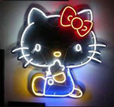 Hello Kitty Logo Neon Sign
