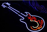 Hot Fire Guitar Neon Sign