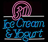 Ice Cream Yogurt Logo Neon Sign