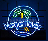 Margaritaville Palm Tree Logo Neon Sign