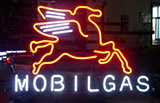 Mobilgas Oil Logo Neon Sign