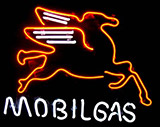 Mobil Gas Oil Logo Neon Sign