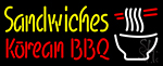 Sandwiches Korean Bbq Neon Sign