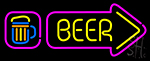 Beer With Beer Mug LED Neon Sign