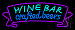 Wine Bar Crafted Beer LED Neon Sign