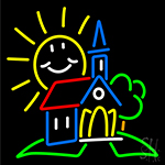 Summer Church Clipart LED Neon Sign