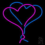 Double Heart Neon Sign