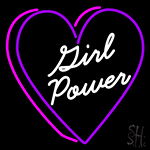 Girl Power With Heart Neon Sign