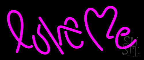 love me pink neon sign restaurant neon signs neon lights